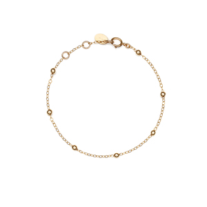 14K Gold Filled Handmade 1.3x180mm PlateCableChain with 7x3mm CrimpCover (Anklet)Bracelet[Firenze Jewelry] 피렌체주얼리